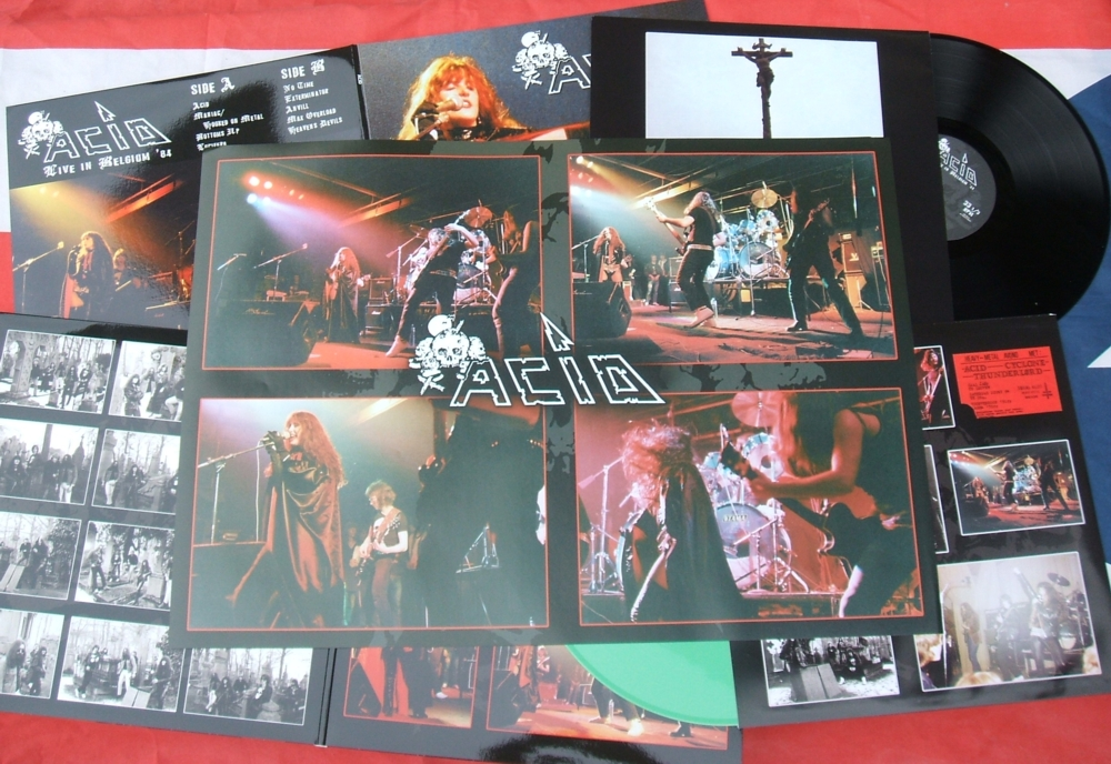 ACID - Live in Belgium 84 LP with poster (included in all LPs)